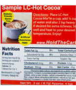 Keto chocolate: LC foods Low Carb Hot Cocoa Sampler 6 packets (.25 net c... - $20.29