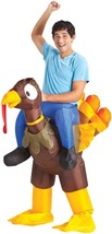 Riding Turkey Costume Adult Inflatable Mascot Animal Halloween Funny SS6... - $59.99