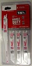 Milwaukee 49-22-0230 4 pk 18 & 14 TPI Bi-Metal Sawzall Blade Set USA - $6.93