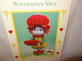 Watermelon Slice Doll Pattern Lollipop Lane Dumplin Designs Crochet 1984... - $9.99