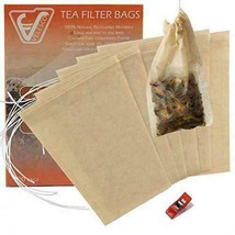 Velesco Tea Filter Bags Disposable Infuser with Drawstring for Loose 100 - $13.52