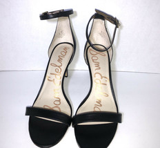 New Sam Edelman Patti Women's Black Leather Classic High Heel Sandal Size 11 - $30.81