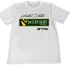 United States Army First Cavalry Wicking T-Shirt w Flag Car Coaster - $14.80+