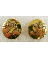"""LAUREL BURCH Triple 'Mynah Birds"""" Gold-Tone Embellished Post EARRINGS -F... - $25.00"""