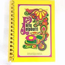 Party Potpourri Cookbook Memphis Junior League Parties and Menus 9th Edi... - $14.84
