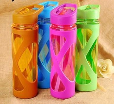 1pcs 580ml New Seal Straw Sport Water Bottle Anti Hot Leak Proof Plastic Sleeve - $9.99