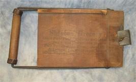 Shipton Grocery Wood Service Statement Receipt Holder Vintage Advertisin... - $39.00