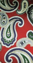 "Brooks Brothers Neck Tie Silk Paisley Red Blue Green 58"" x 3.75"" Made in the USA - $11.63"