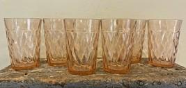Vintage Hazel Atlas Depression Pink Diamond Optic Tumbler Glass - $39.99