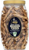 Utz Honey Wheat Braided Pretzel Twists – 26 oz Barrel – Sweet Honey Taste, Thick - $19.77