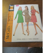 McCalls Vintage Size Misses 12 Dress With Three... - $6.99