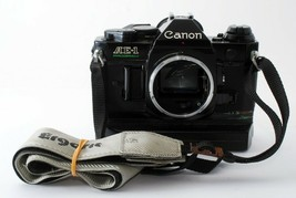 Canon AE-1 Program SLR Camera body black w/A2 Power Winder [For parts] Japan - $68.31