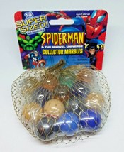 Collector Toys Marbles Spiderman & The Marvel Universe  Biz 2003 14ct NIP - $39.20