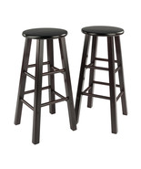 "Winsome Wood Contemporary Home 29"" Element Bar Stools, 2-Pc Set, Espresso - $87.78"