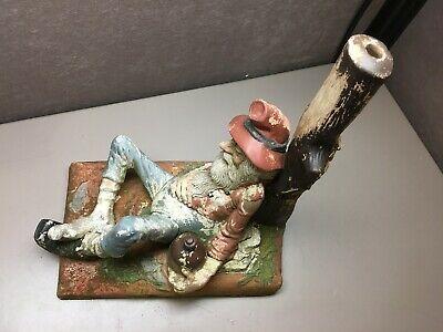 Vintage Holland Mold Drunk Miner Gnome Ceramic