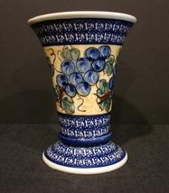 """7 ½ """" Tall  Polish (Boleslawiec) UNIKAT Stoneware Vase  - $85.00"""
