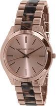 NWOT Michael Kors Womens MK4301 Slim Runway Gold/Tortoiseshell Watch - $149.95