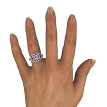 White Gold Plated 925 Sterling Silver Disney Princess Mulan Ring Free Shipping image 4