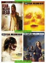 Fear The Walkind Dead Complete Series Season 1 2 3 4 DVD Collection Set New 1-4 - $49.00