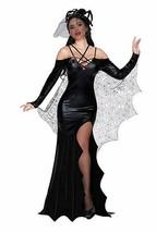 Dreamgirl Veuve Noire Toile Araignée Robe Sexy Adulte Femmes Halloween C... - $66.54