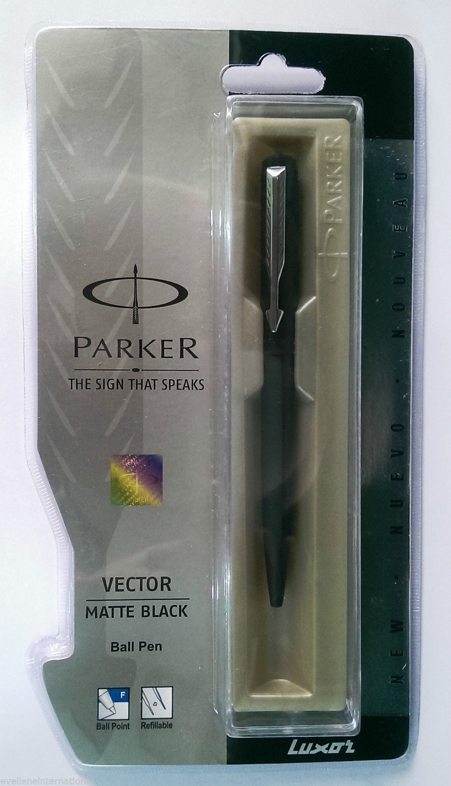 Parker Vector Matte Black Ball Pen  Stainless Steel Clip