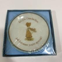 "American Greetings Lasting Treasures 4"" Porcelain Plate For you Grandmother NEW - $18.65"