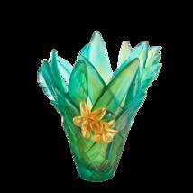 Daum  Vase Large Tressage Green 05637 Crystal France - $6,435.00