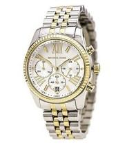 New Michael Kors Lexington Gold Silver Chronograph Women's Watch MK5955 - $128.65