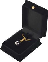 "Gold Victoria Pendant w/20"" chain & black velvet display box - $149.99"