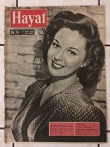 SUSAN HAYWARD LIFE HAYAT cover turkish magazine FREE SHIPPING 1958 - $9.89