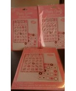 Lot of 3 Bingo game sheets bridal pink 10 game cards and 10 sticker eac... - $14.03