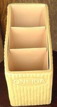 Oneida ceramic utensil organizer yellow bamboo ... - $44.00