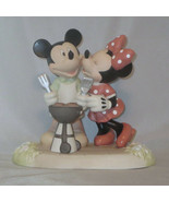 Mickey Mouse Minnie Precious Moments BBQ Disney Kiss The Cook Grilling Y... - $75.23