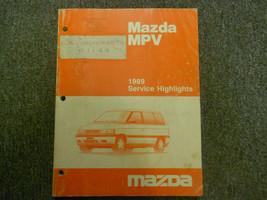 1989 Mazda Mpv Service Highlights Service Shop Manual Oem Book 89 Factory X - $22.28