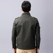Men's Autumn and Winter Cotton Coat Outdoor Windproof Waterproof Warm Stand Coll image 9