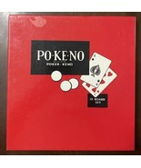 Vtg POKENO PO-KE-NO Playing Card Game Set 12 Boards, Cards, Chip Holder ... - $9.85