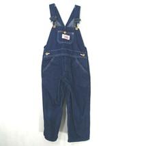 Round House Denim Jean Bib Overalls Vintage Boys Girls Size 4 Dark Wash ... - $24.74