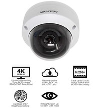 Hikvision DS-2CD2183G0-I 8.0MP 4K UltraHD Exir Dome Camera 4.0mm, English - $199.99
