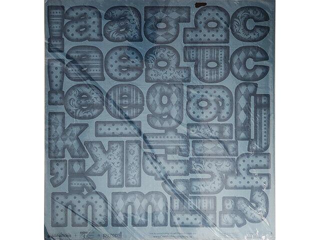 Creative Imaginations Alphabet 12x12 Inch Sheet