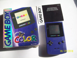 Game Boy Color Purple - Grape  Handheld System  IN BOX - NEW SCREEN COVER - $99.99