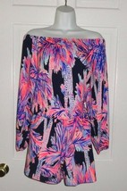NWT LILLY PULITZER BRIGHT NAVY PALMS UP LANA ROMPER - €79,73 EUR