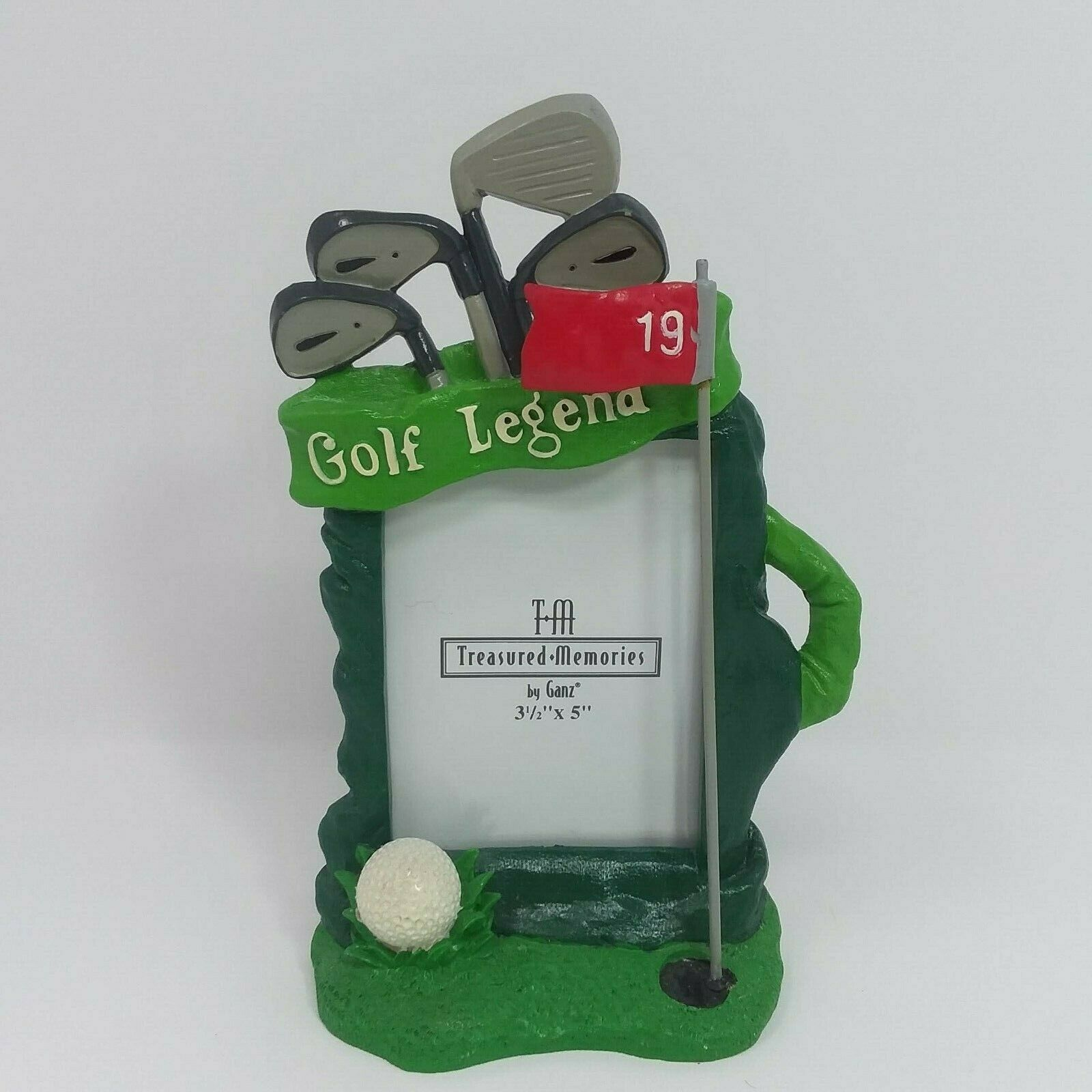 Primary image for Treasured Memories Golf Bag Club Theme 3.5 x 5 Picture Frame by Ganz Vertical