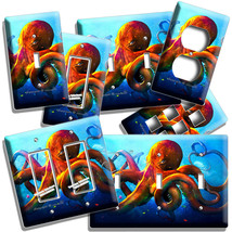 GIANT RED OCTOPUS UNDERWATER OCEAN WORLD LIGHT SWITCH OUTLET WALL PLATE ... - $10.22+