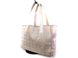 Auth CHANEL Travel line Canvas, Leather Pinks Tote Bag CT13942L - $169.00