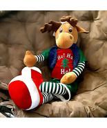 """Dan Dee Moose Plush 38"""" + antlers Ho Ho Ho Christmas Snuggle toy Rare - $49.49"""