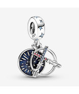925 Sterling Silver Star Wars Lightsaber Double Dangle Charm Bead - $21.99