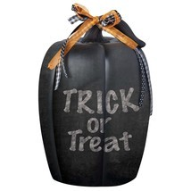 Halloween Decor Chalkboard Pumpkin Decoration Black Outdoor Yard Indoor ... - $15.99