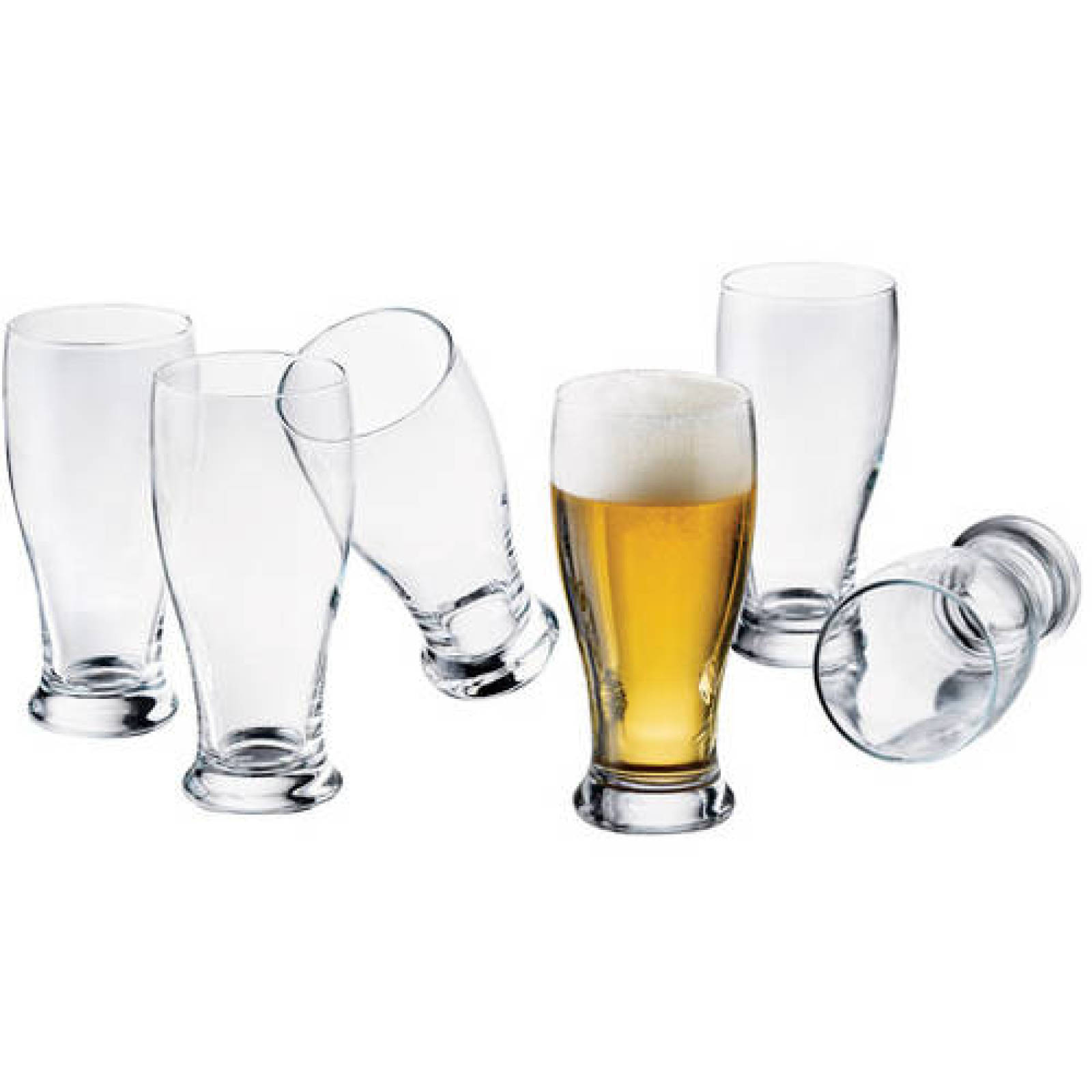 Set of 8 Libbey Clear Glass 19-oz. Beer Pub Glasses New