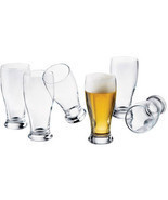 Set of 8 Libbey Clear Glass 19-oz. Beer Pub Glasses New - £17.34 GBP