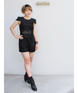 CAMEO Romper Black  Cutout Cute Jumpsuit Sz M - $55.85